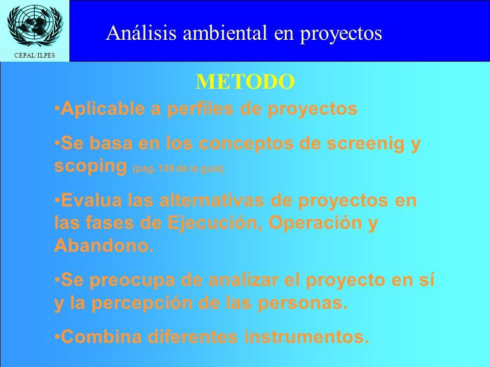 CEPAL/ILPES Click to edit Master title style Situación inicial Situación con Proyecto Situación si n proyecto Impact o Análisis ambiental en proyectos
