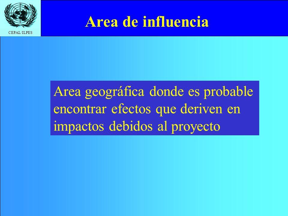 CEPAL/ILPES Click to edit Master title style Identificación del área de influencia. Aspecto legales y normativos. Ajustes del análisis técnico del pro