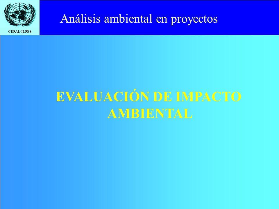 CEPAL/ILPES Click to edit Master title style EIA - Evaluación del impacto ambiental para proyectos individuales EAE - Evaluación ambiental estratégica