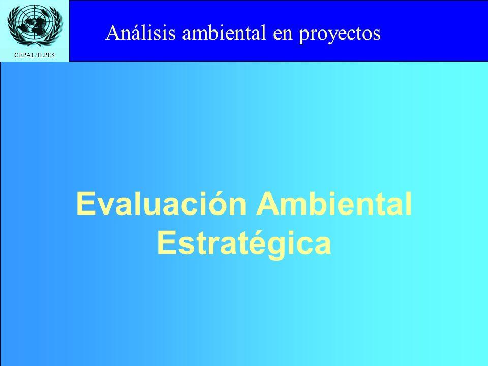 CEPAL/ILPES Click to edit Master title styleOBJETIVOS DE LA EIA Señalar, prever, identificar, clasificar y evaluar los problemas potenciales al inicio