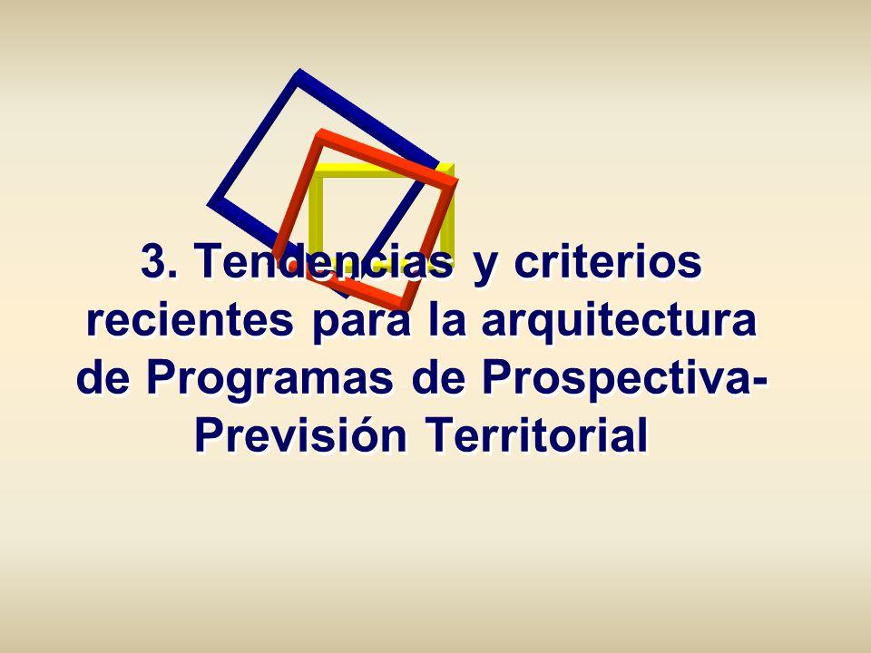 3. Tendencias y criterios recientes para la arquitectura de Programas de Prospectiva- Previsión Territorial