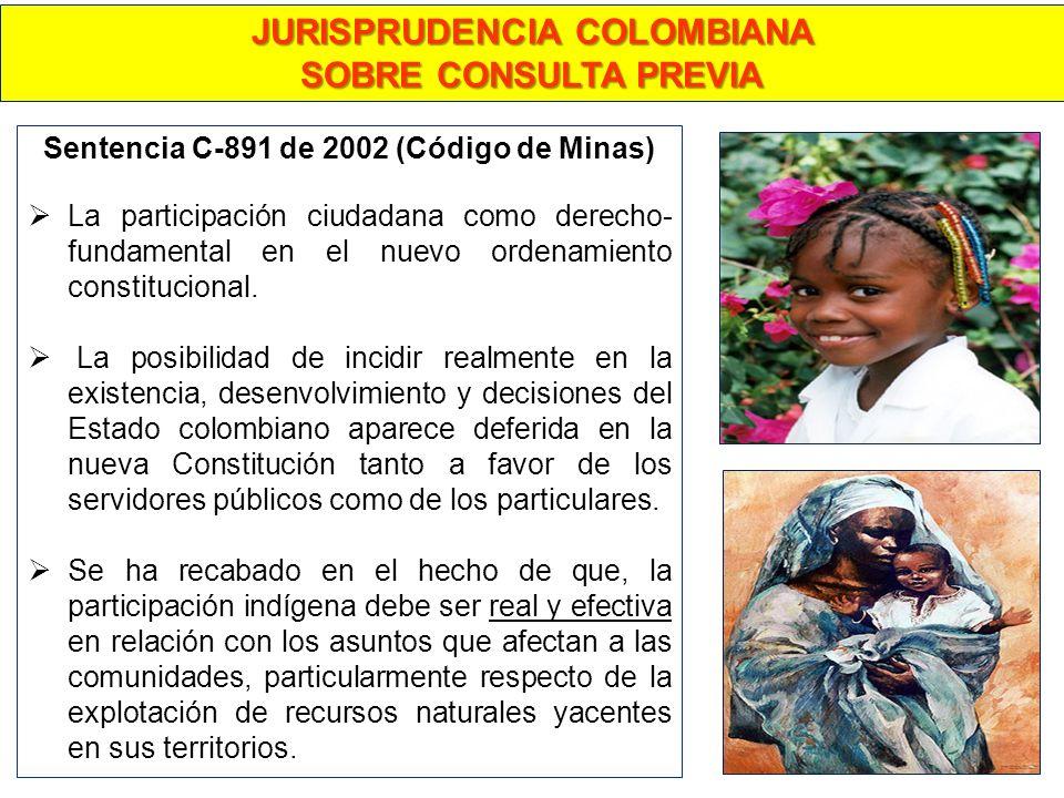 Sentencia C-891 de 2002 (Código de Minas) La participación ciudadana como derecho- fundamental en el nuevo ordenamiento constitucional. La posibilidad