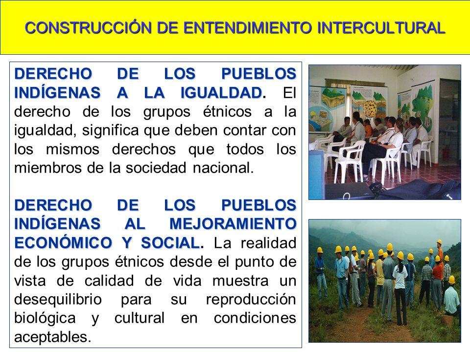 CONSTRUCCIÓN DE ENTENDIMIENTO INTERCULTURAL DERECHO DE LOS PUEBLOS INDÍGENAS A LA IGUALDAD DERECHO DE LOS PUEBLOS INDÍGENAS A LA IGUALDAD. El derecho