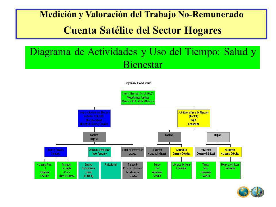 Diagrama de Actividades y Uso del Tiempo: Salud y Bienestar Medición y Valoración del Trabajo No-Remunerado Cuenta Satélite del Sector Hogares
