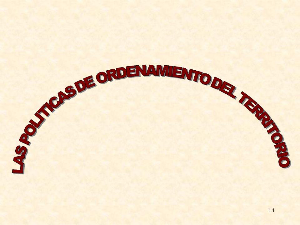 15 La Carta Europea de Ordenaci ó n del Territorio suscrita por los pa í ses representados en la Conferencia Europea de Ministros Responsables de Ordenaci ó n del Territorio define la ordenaci ó n del Territorio como la expresi ó n espacial de las pol í ticas econ ó micas, sociales, culturales y ecol ó gicas de la sociedad.