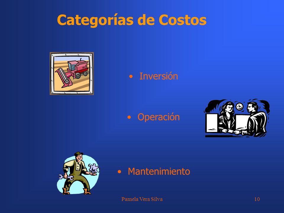 Pamela Vera Silva10 Categorías de Costos Inversión Operación Mantenimiento
