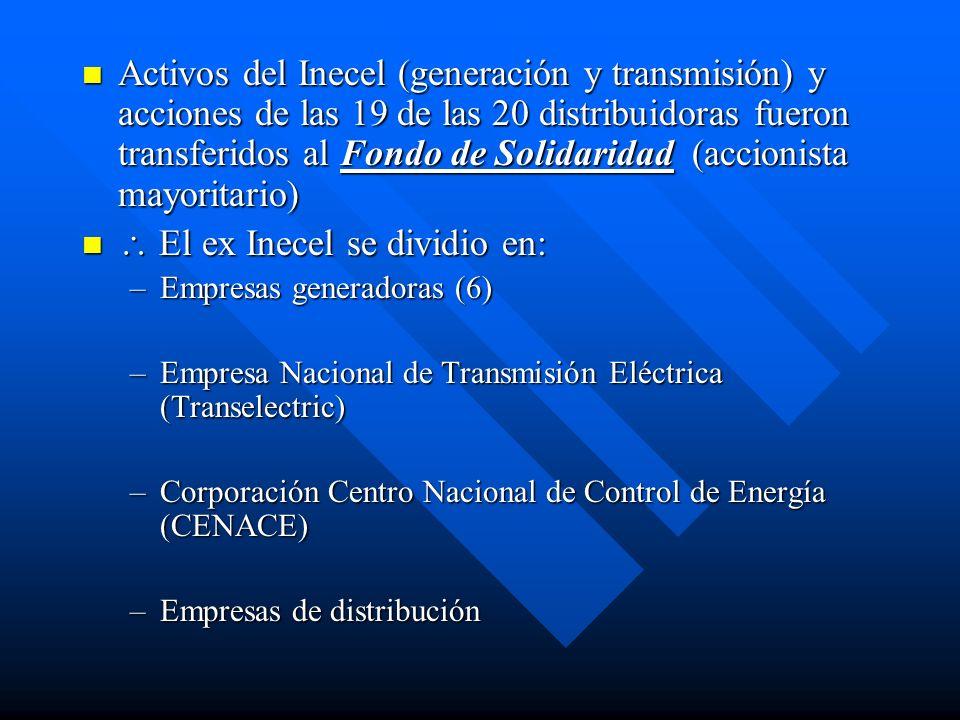 Evolución Tarifaria En 1998 el CONELEC realizó un estudio de costos y análisis tarifario para determinar la tarifa real promedio para la provisión del servicio.