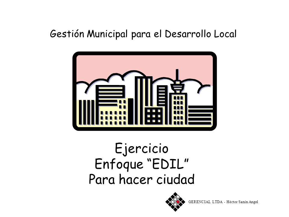 Gestión Municipal para el Desarrollo Local Taller Enfoque EDIL ANÁLISIS DE FUNCIONES URBANAS