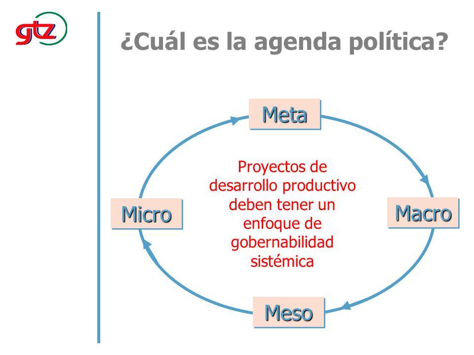 ¿Cuál es la agenda política.