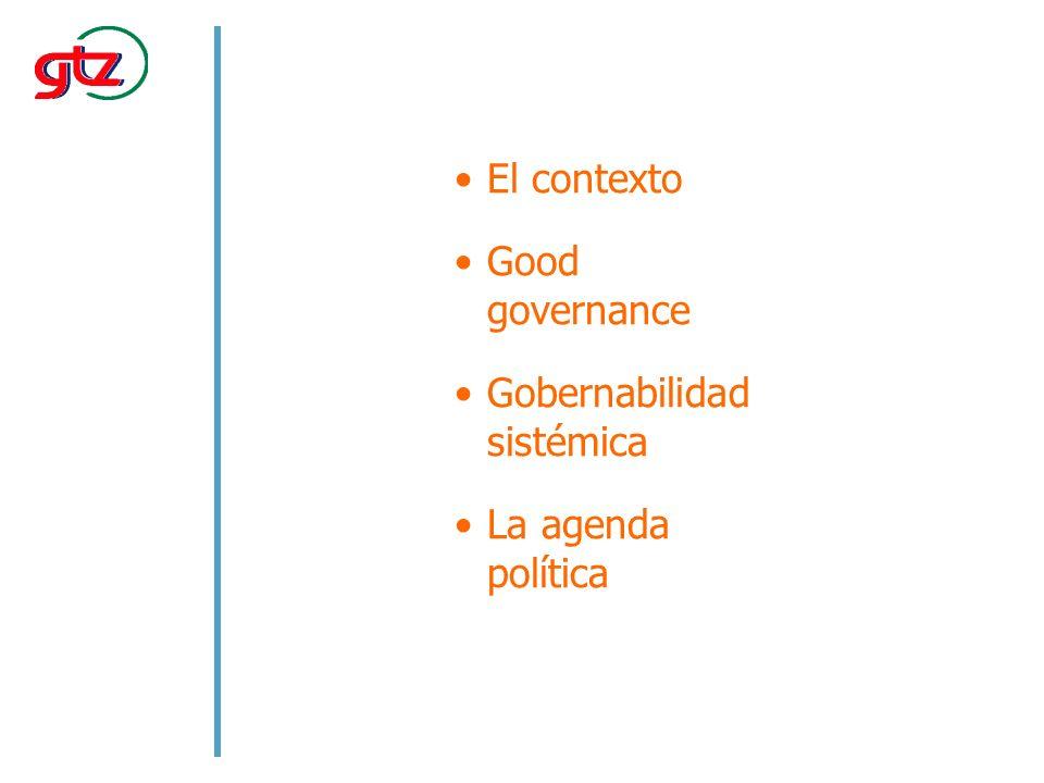 ¿Por qué es importante la gobernabilidad para el desarrollo?