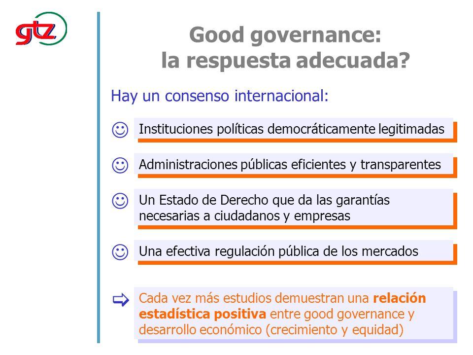 Good governance: la respuesta adecuada.