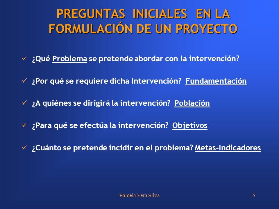 Pamela Vera Silva5 ¿Qué Problema se pretende abordar con la intervención? ¿Por qué se requiere dicha Intervención? Fundamentación ¿A quiénes se dirigi
