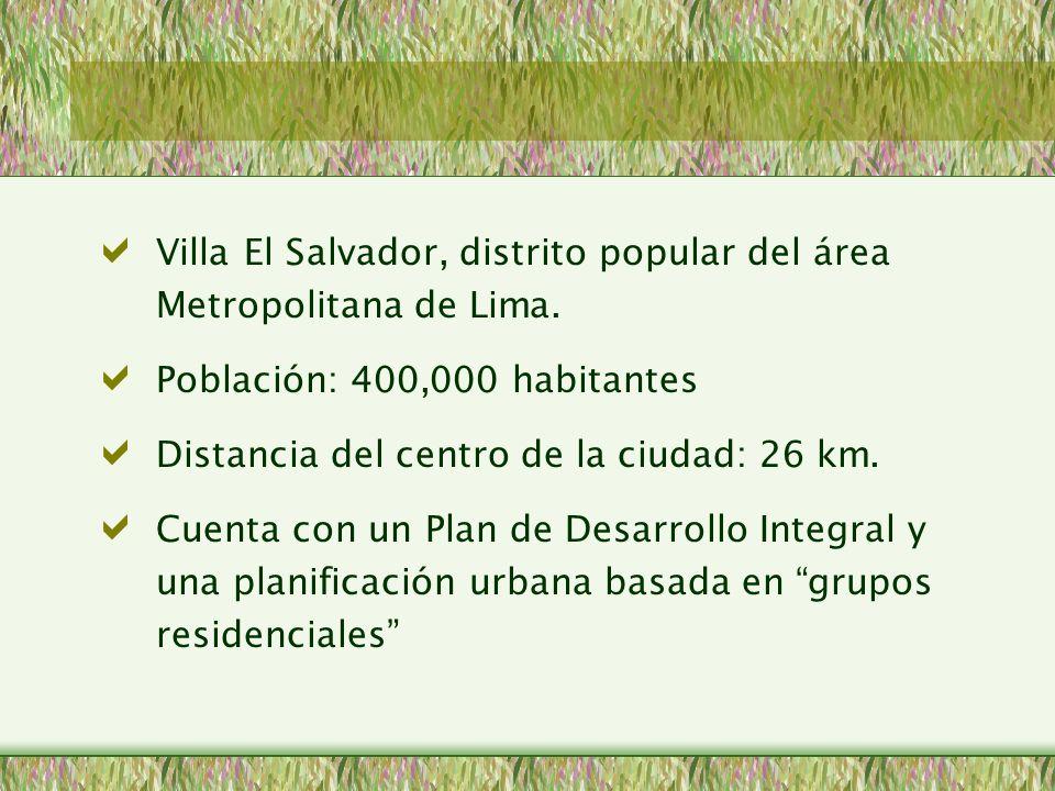Tiempo promedio utilizado desde Villa El Salvador al Centro de Lima y zonas de trabajo: Dos horas Dos Líneas de transporte Tiempo utilizado al interior de Villa El Salvador 30 Minutos Caos en el tránsito