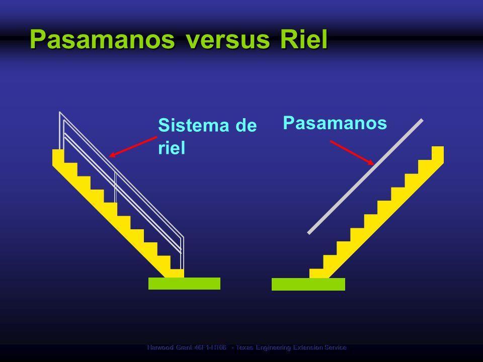 Harwood Grant 46F1-HT06 - Texas Engineering Extension Service Pasamanos versus Riel Sistema de riel Pasamanos