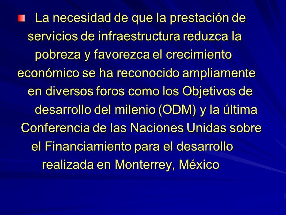 Préstamos aprobados del Banco Mundial para infraestructura