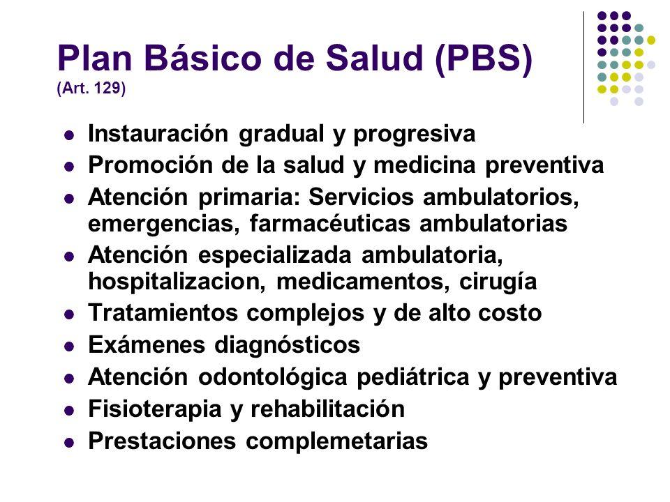 Seguro Familiar de Salud (SFS) (Art. 127) Prestaciones del Régimen Contributivo En especie: 1. Plan Básico de Salud 2. Servicios de estancias infantil