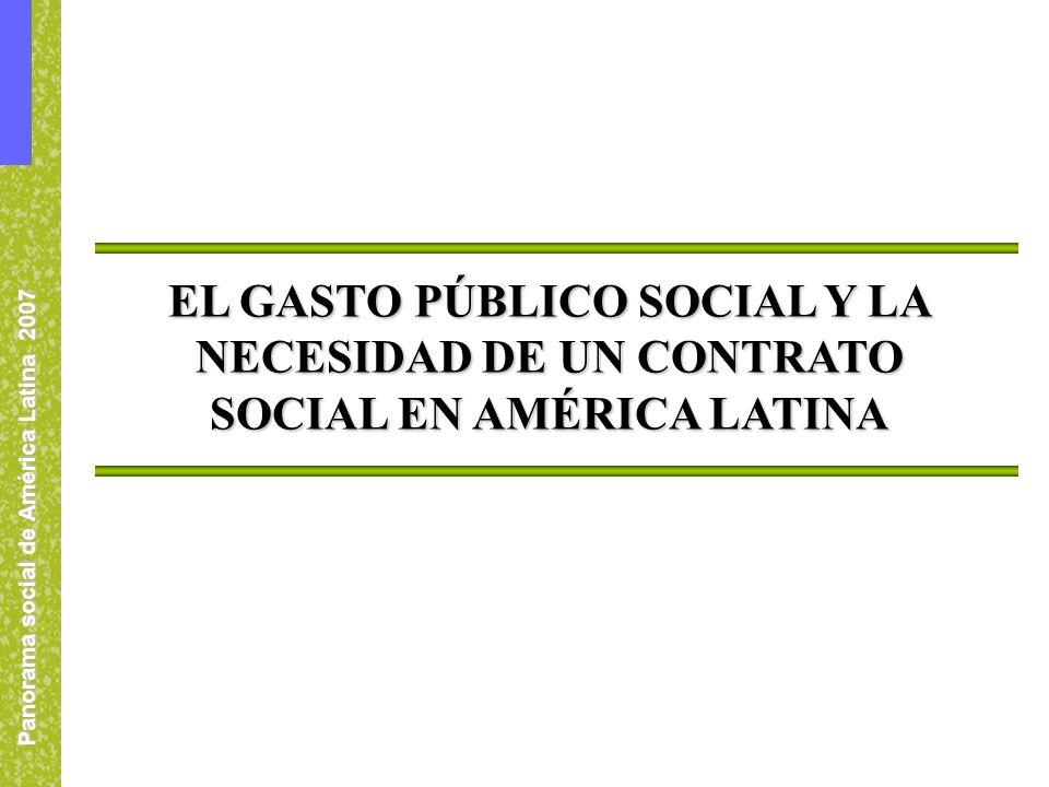 Panorama social de América Latina 2007 EL GASTO PÚBLICO SOCIAL Y LA NECESIDAD DE UN CONTRATO SOCIAL EN AMÉRICA LATINA