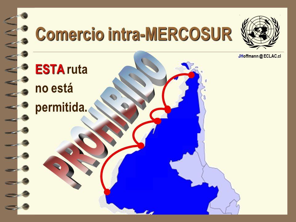 JHoffmann @ ECLAC.cl Comercio intra-MERCOSUR ESTA ESTA ruta no está permitida.