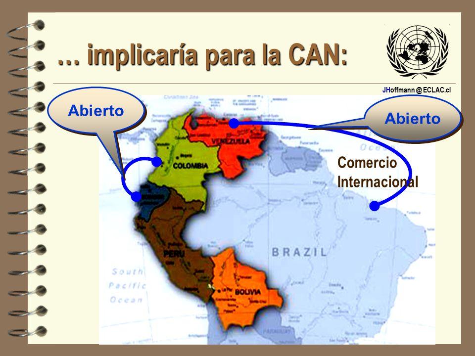 JHoffmann @ ECLAC.cl … implicaría para la CAN: Abierto Comercio Internacional