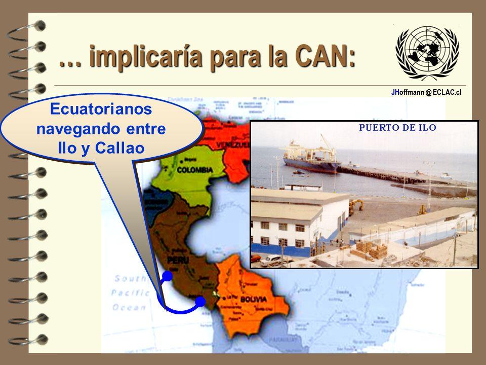JHoffmann @ ECLAC.cl … implicaría para la CAN: Ecuatorianos navegando entre Ilo y Callao