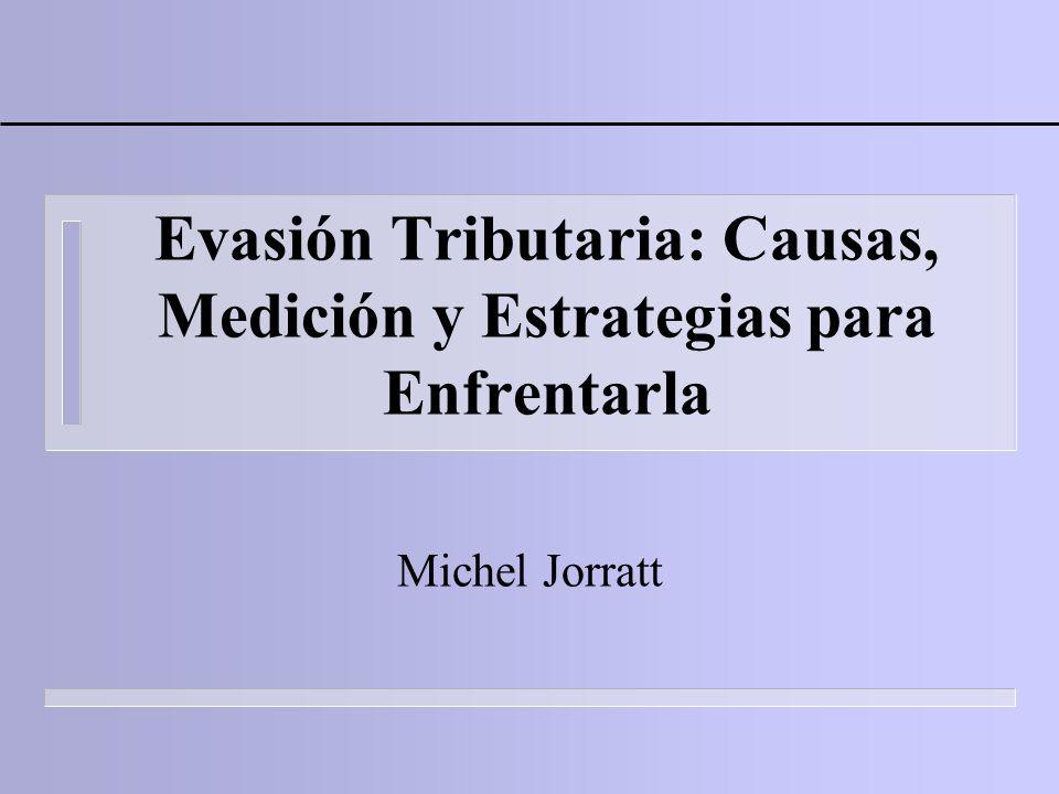 Evasión Tributaria: Causas, Medición y Estrategias para Enfrentarla Michel Jorratt
