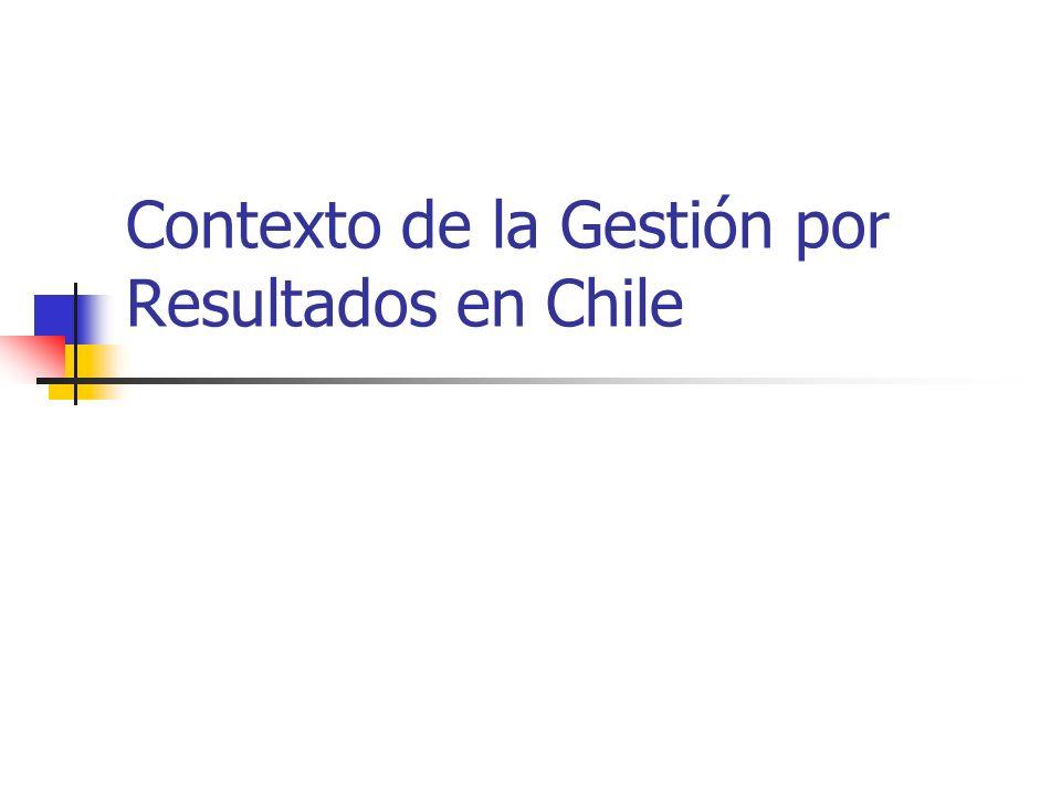 Contexto de la Gestión por Resultados en Chile