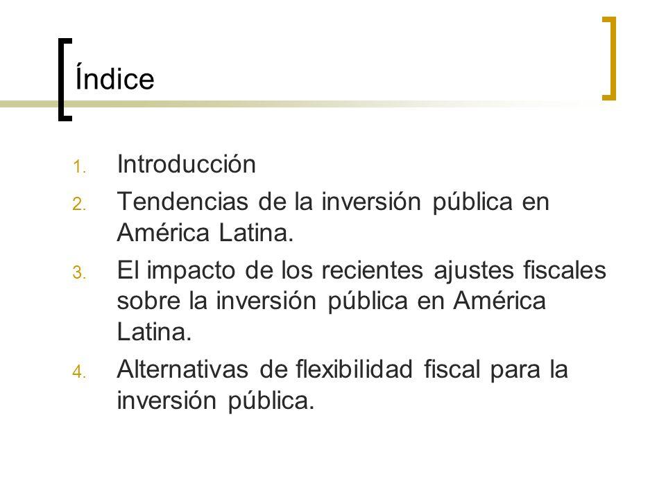 Índice 1. Introducción 2. Tendencias de la inversión pública en América Latina.