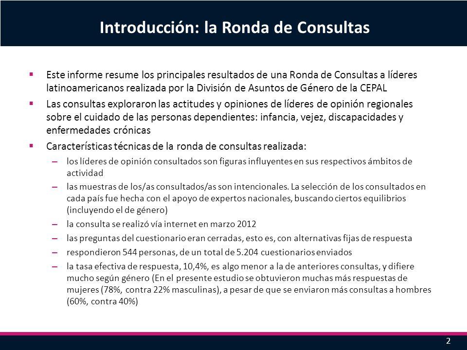 Este informe resume los principales resultados de una Ronda de Consultas a líderes latinoamericanos realizada por la División de Asuntos de Género de