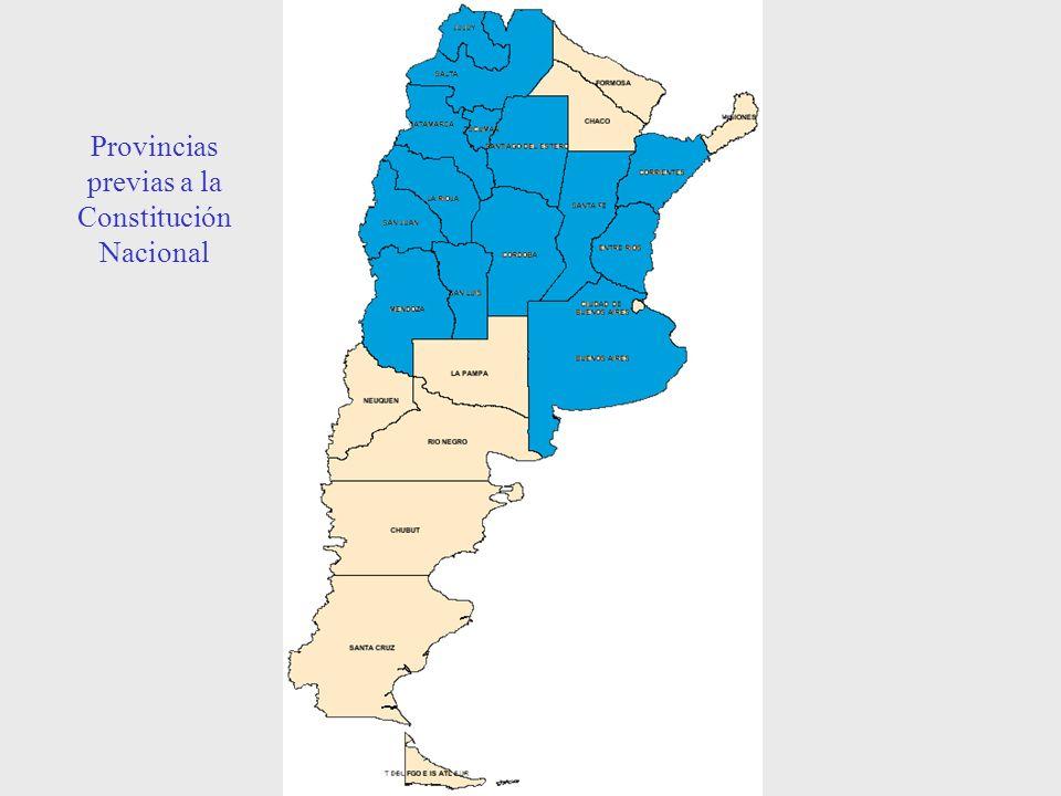 Provincias previas a la Constitución Nacional