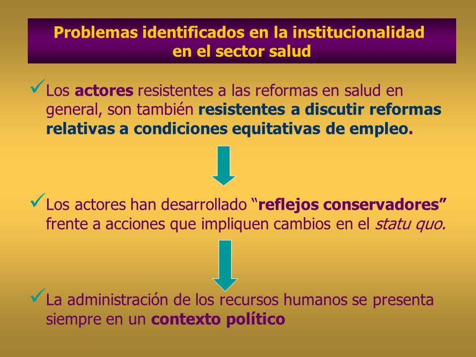 Los actores resistentes a las reformas en salud en general, son también resistentes a discutir reformas relativas a condiciones equitativas de empleo.