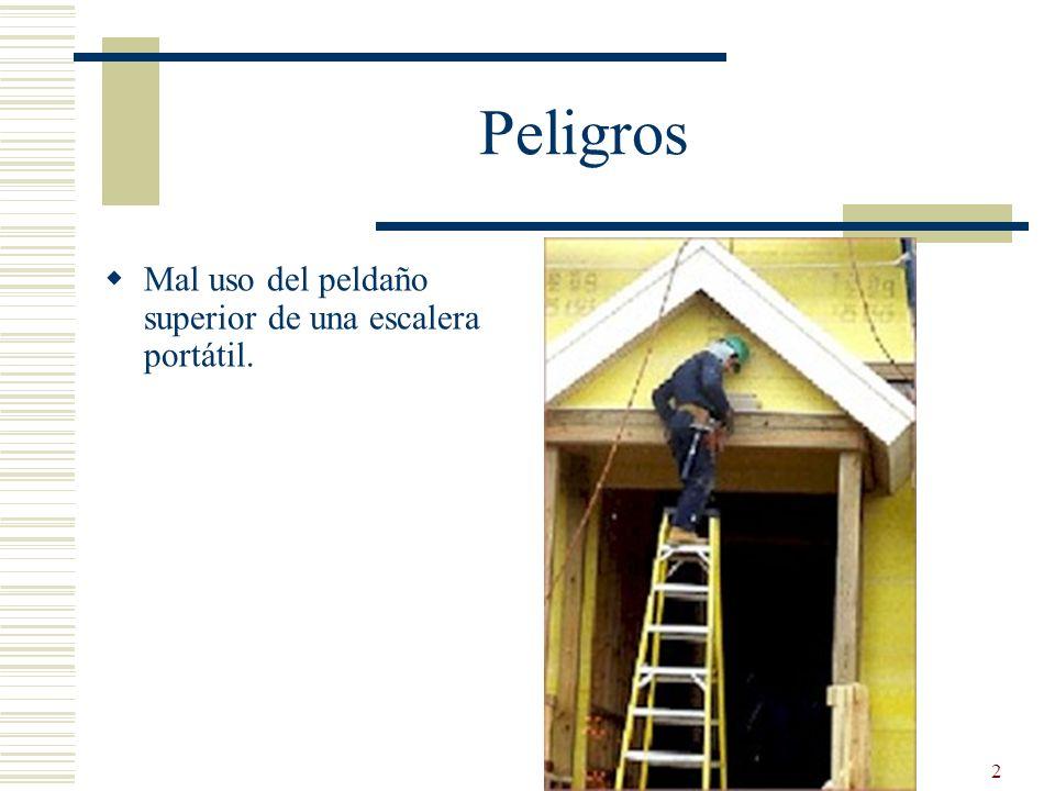 13 Condiciones Peligrosas Elimine condiciones resbalosas antes de usar escaleras.