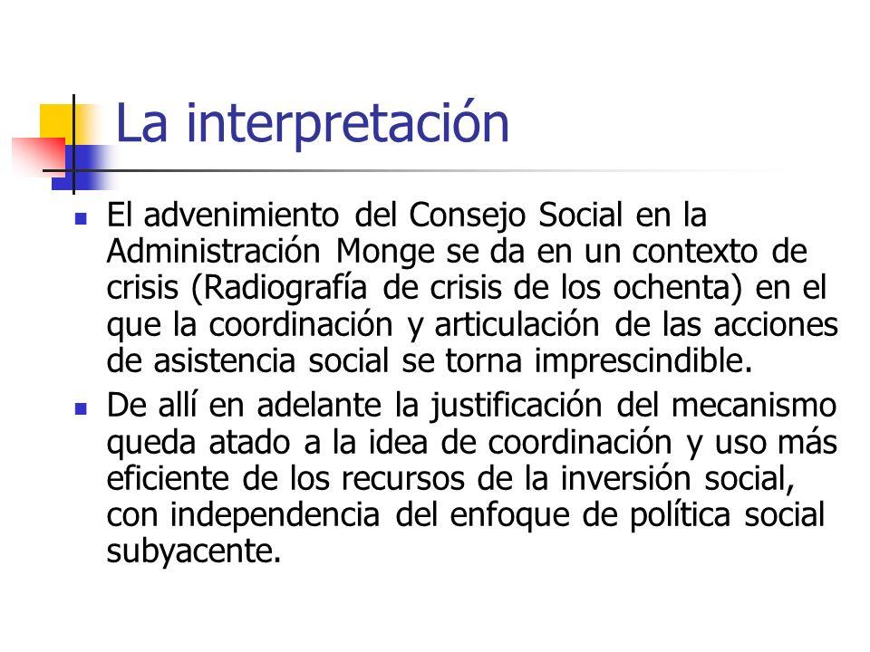 La interpretación El advenimiento del Consejo Social en la Administración Monge se da en un contexto de crisis (Radiografía de crisis de los ochenta)