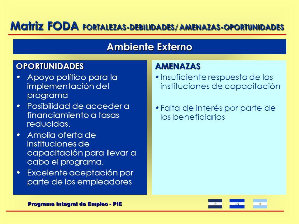 Fortalezas Personal capacitado y con experiencia institucional Área definida como prioritaria dentro de la institución.