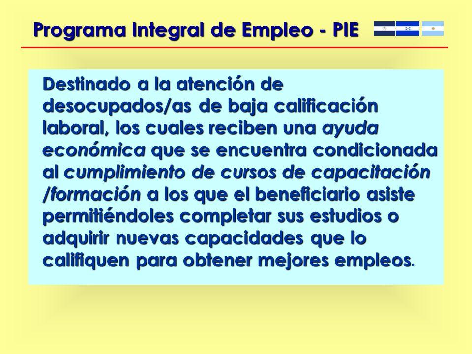 PROGRAMA INTEGRAL DE EMPLEO