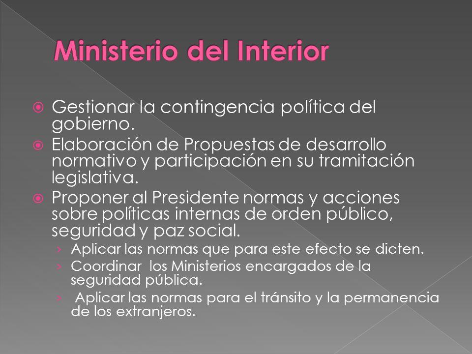 Coordinación Intra Gubernamental: Comités Interministeriales para coordinar la acción gubernamental en torno a las reformas que el gobierno impulsa.