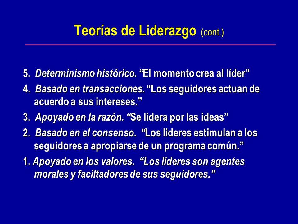 Teorías de Liderazgo - Top Ten (James OToole, 1999) 10. El destino está en la biología. 9. De lo que se trata es del poder. 9. De lo que se trata es d