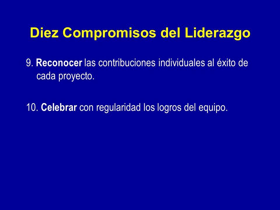Diez Compromisos del Liderazgo 6. Fortalecer a la gente delegando poder, dando alternativas, desarrollando competencia, asignando tareas importantes y