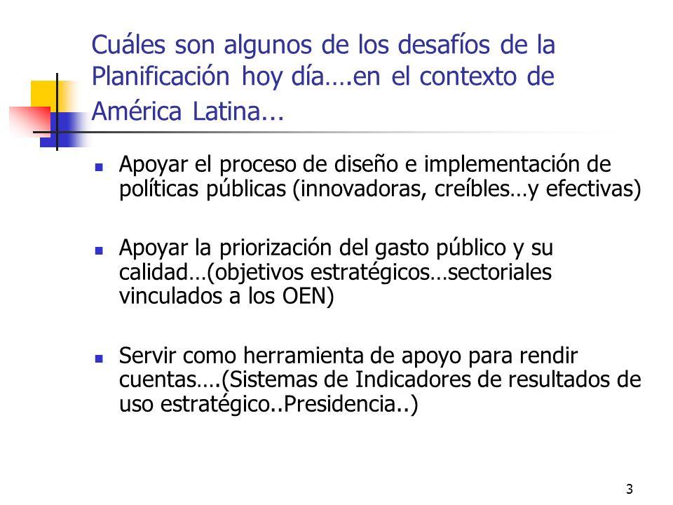 2 Quién planifica y para qué ( hipotéticamente )? Los gobiernos … ( para apoyar el establecimiento de prioridades de política pública) Los Ministerios