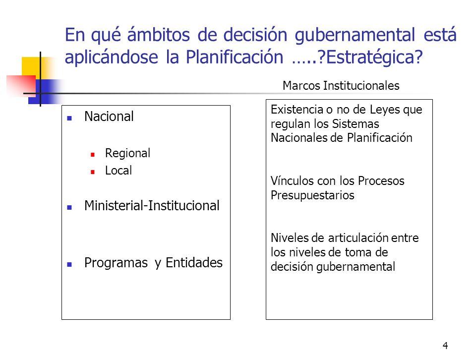 3 Cuáles son algunos de los desafíos de la Planificación hoy día….en el contexto de América Latina … Apoyar el proceso de diseño e implementación de p