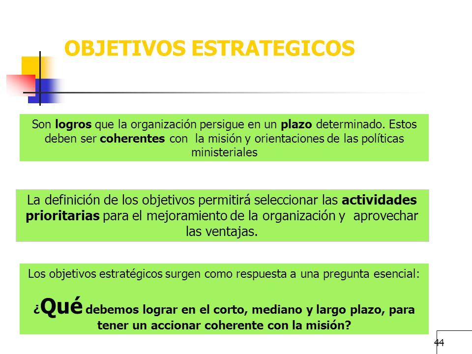 43 Usuarios Externos, Población Objetivo, Beneficiario Usuarios externos: quien recibe directamente el bien o servicio Población potencial corresponde
