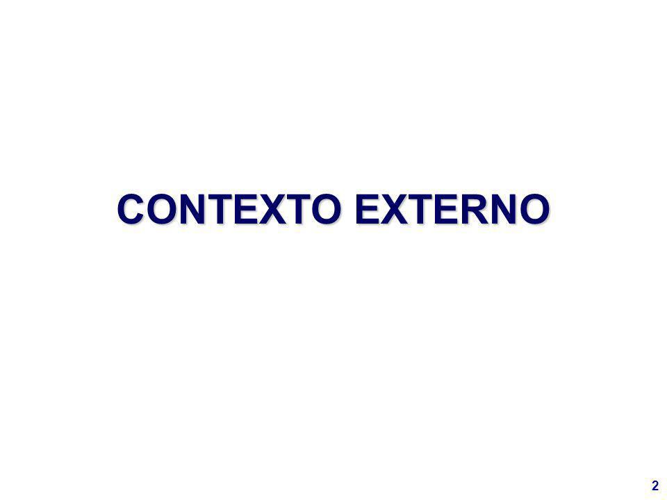 13 ESTE COMPLEJO ENTORNO EXTERNO, JUNTO CON FACTORES INTERNOS, DETERMINÓ UN CUADRO RECESIVO EN LA REGIÓN