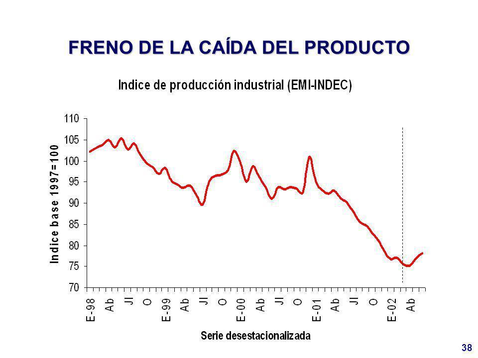 38 FRENO DE LA CAÍDA DEL PRODUCTO