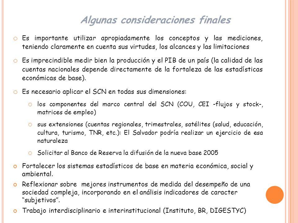 División de Estadísticas Comisión Económica para América Latina y el Caribe salvador.marconi@cepal.org Contacto Muchas gracias!