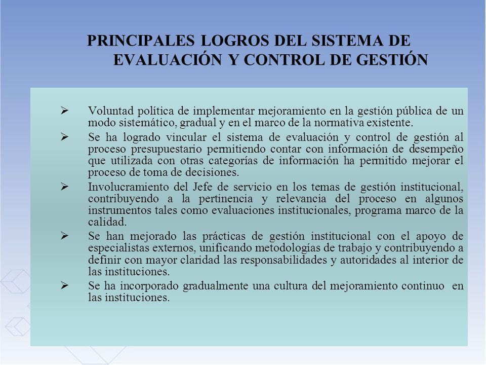 34 PRINCIPALES LOGROS DEL SISTEMA DE EVALUACIÓN Y CONTROL DE GESTIÓN Voluntad política de implementar mejoramiento en la gestión pública de un modo si