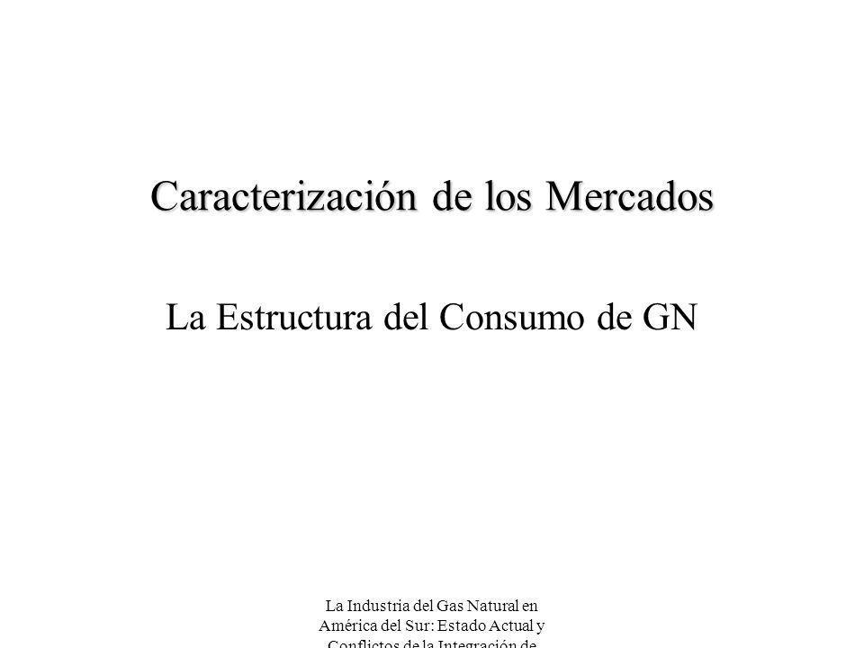 La Industria del Gas Natural en América del Sur: Estado Actual y Conflictos de la Integración de Mercados Caracterización de los Mercados La Estructur