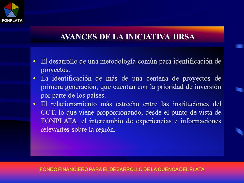 FONDO FINANCIERO PARA EL DESARROLLO DE LA CUENCA DEL PLATA AVANCES DE LA INICIATIVA IIRSA Los resultados obtenidos por la Iniciativa IIRSA en la regió