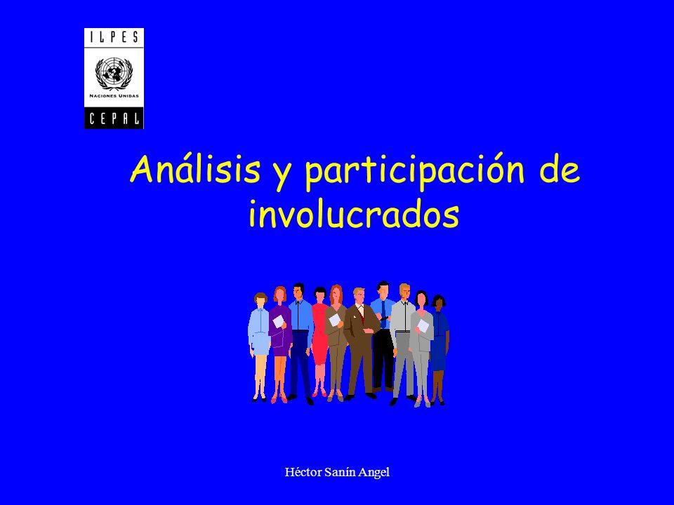 Héctor Sanín Angel Análisis y participación de involucrados