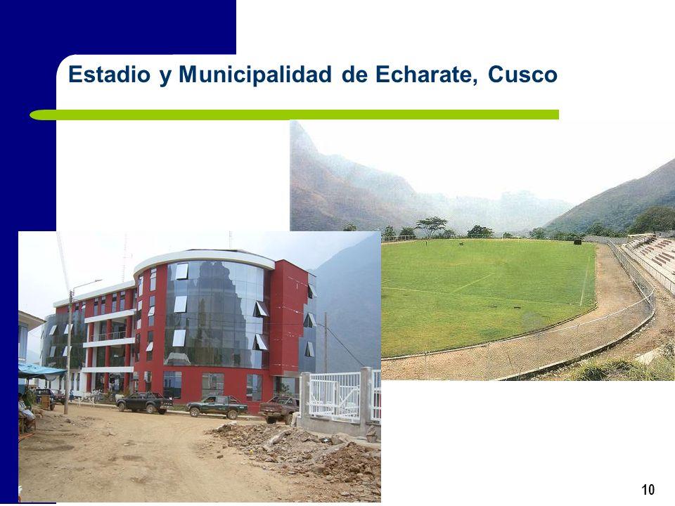 10 Estadio y Municipalidad de Echarate, Cusco
