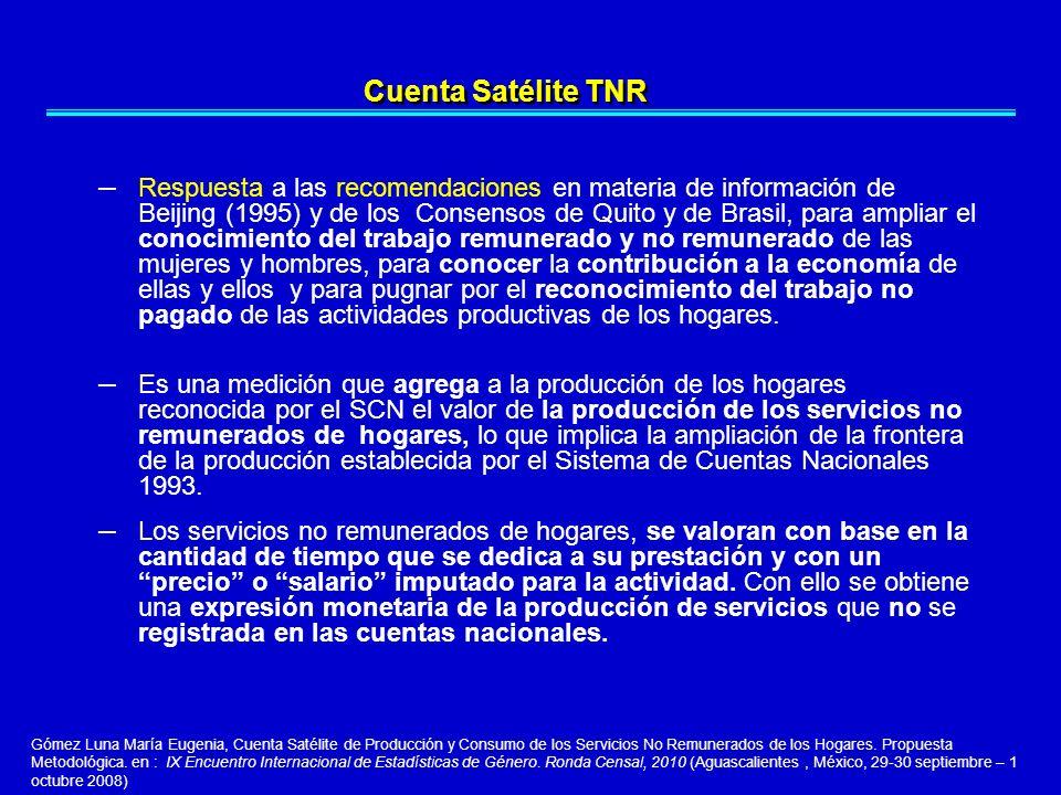 – Respuesta a las recomendaciones en materia de información de Beijing (1995) y de los Consensos de Quito y de Brasil, para ampliar el conocimiento de