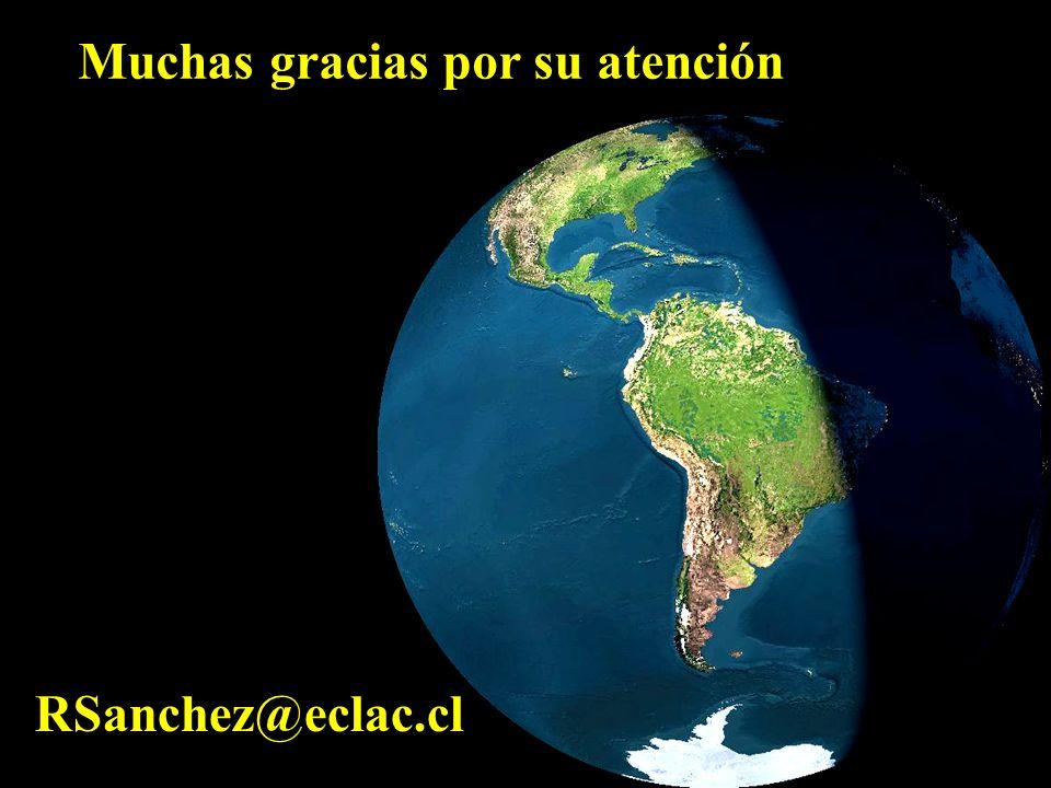 Muchas gracias por su atención RSanchez@eclac.cl